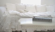beautiful antique white washed furniture | leaving the ruffling whites of its pure essence