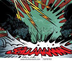 Comic Book Background Stock Vector Illustration 71676703 ...