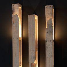 """Applique """"En toute tranquillité"""" DIY palette bois détournement d'objets, luminaire, design / Daney Factory"""
