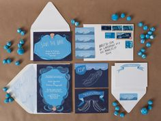 Oceanic wedding invitation suite turquoise by WeddingInvitationsVP, $5.77