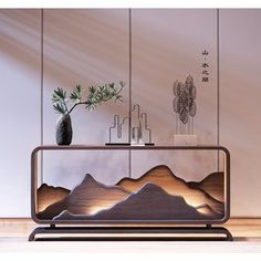 Foyer Design, Wall Design, House Design, Chinese Interior, Japanese Interior, Interior Exterior, Interior Architecture, Home Decor Furniture, Furniture Design
