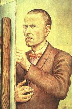 Self Portrait With Easel - Otto Dix, 1925