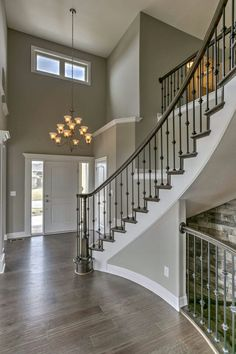 Paint dream home design, my dream home, house design, living room colors, h Dream Home Design, My Dream Home, Staircase Remodel, House Stairs, Staircase Design, Living Room Colors, Cheap Home Decor, Design Case, Home Remodeling