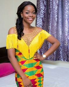 Today is a attending at the latest binding styles rocked by these women who appe. African Wedding Dress, African Print Dresses, African Fashion Dresses, African Dress, African Inspired Fashion, African Print Fashion, Africa Fashion, Women's Fashion, Fashion Ideas