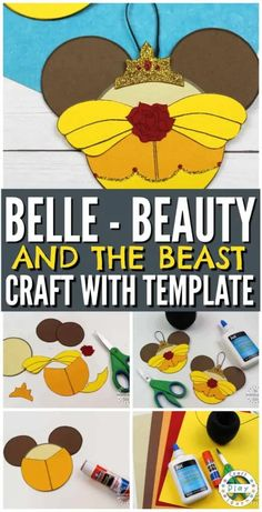 Hottest Images Paper Crafts disney Tips Consequently, you decide of which paper crafts are generally where by you intend to start your devel Disney Princess Crafts, Disney Diy, Disney Crafts, Disney Princesses, Disney Mickey, Easy Paper Crafts, Easy Crafts For Kids, Craft Activities For Kids, Fun Crafts