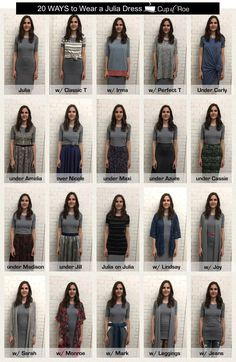 20 Ways to Wear the LuLaRoe Julia Dress by Cup of Roe: https://www.facebook.com/groups/cupofroe/