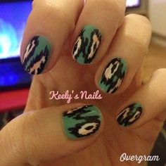 New post on Keely's Nails: Ikat Nails - includes tools, polishes and how-to create this look yourself. It's a great choice if you aren't ambidextrous as accuracy is not required!