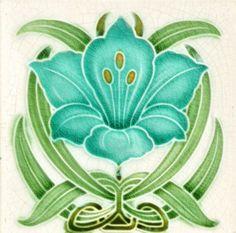 Shop Art Nouveau Vintage Design Backsplash Tile 2 Sizes created by Ceramic_Tiles. Fleurs Art Nouveau, Motifs Art Nouveau, Azulejos Art Nouveau, Design Art Nouveau, Art Nouveau Flowers, Art Design, Antique Tiles, Vintage Tile, Vintage Design