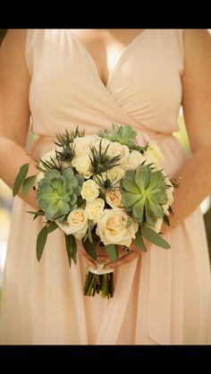 Beautiful succulent bouquet for a wedding at The Vinoy Saint Petersburg, Florida.  Www.savethedatefl.com