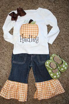 LOVE it!!  Cute ruffle jeans!