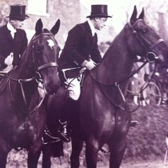 The Prince of Wales and his brother Prince George hunting with The Quorn Hunt in 1932