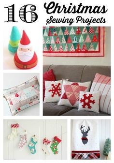 Trendy Sewing Gifts For Christmas Diy Projects Fun Sewn Christmas Ornaments, Handmade Christmas, Christmas Diy, Christmas Stockings, Modern Christmas, Christmas Decorations, Sewing Patterns Free, Free Sewing, Quilt Patterns