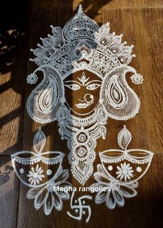 Simple Rangoli Designs Images, Rangoli Designs Flower, Rangoli Ideas, Rangoli Designs Diwali, Diwali Rangoli, Beautiful Rangoli Designs, Indian Rangoli, Easy Rangoli, Diy Diwali Decorations