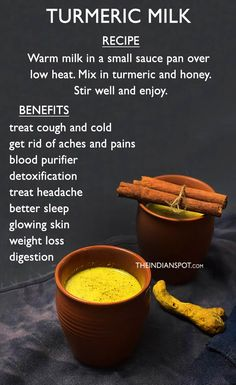 TOP TURMERIC DRINK RECIPES FOR HEALTH AND BEAUTY Turmeric Drink, Turmeric And Honey, Turmeric Recipes, Turmeric Health, Detox Drinks, Healthy Drinks, Bebidas Detox, Health And Nutrition, Home Remedies