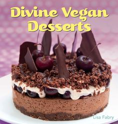 Divine Vegan Desserts is reclaiming the reputation of desserts by proving that they can be beautiful, delicious AND healthy. All the desserts in the book are dairy- and egg- free, and therefore completely free of saturated fats. There are also many recipes suitable for people following a gluten-free or nut-free diet. For those wishing to reduce their refined sugar intake or increase their consumption of natural raw foods there are many options too.