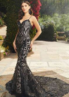 Wedding Dress 2396 Keaton by Casablanca Bridal - Search our photo gallery for pictures of wedding dresses by Casablanca Bridal. Find the perfect dress with recent Casablanca Bridal photos. Light Blue Wedding Dress, Black Wedding Gowns, Boho Wedding Dress, Mermaid Wedding, Goth Wedding Dresses, Lace Wedding, Black White Wedding Dress, Halloween Wedding Dresses, Black Lace Gown