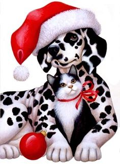 Dalmation and Kitty -- by Stephanie Stouffer, copyright 2015