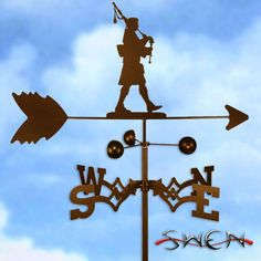 SCOTTISH BAG PIPE PLAYER BAGPIPPER Weathervane