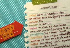 Cute journal idea.