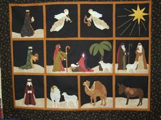 Nativity quilt blocks
