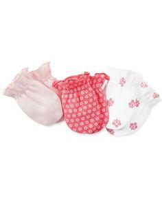 Carter's Baby Girls' 3-Pack Mittens