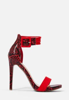 Yvonne Heeled Sandal in Red Red High Heels, Color Pop, Sandals, Fashion, Shoes Sandals, Moda, La Mode, Red Stilettos, Fasion