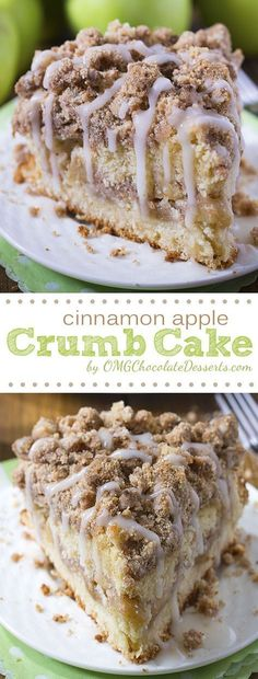 Cinnamon Apple Crumb Cake Are you ready for fall baking? Cinnamon Apple Crumb Cake is the perfect dessert for crisp weather coming up. - Are you ready for fall baking? Cinnamon Apple Crumb Cake is the perfect dessert for crisp weather coming up. Brownie Desserts, Just Desserts, Simple Dessert Recipes, Brownie Recipes, Quick Desert Recipes, Recipes For Desserts, Lactose Free Desserts, Desserts For A Crowd, Dessert Cake Recipes
