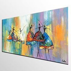 Ballet Dancer Painting Abstract Art Large Painting Canvas