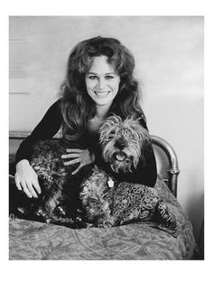 Photograph - Karen Black With Her Dog by Baron Wolman , Karen Black, Betty White, Independent Films, Life Photo, Brigitte Bardot, Underworld, Old Hollywood, American Actress, Actors & Actresses