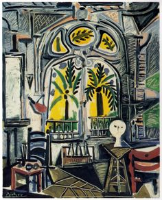 The Studio (oil on canvas) 1955. Pablo Picasso
