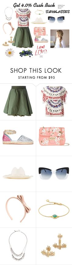 """Printed blouse ..."" by jamuna-kaalla ❤ liked on Polyvore featuring Moncler, MSGM, Chiara Ferragni, Monique Lhuillier, Federica Moretti, Cutler and Gross, RED Valentino, Monica Vinader, Alexis Bittar and Joanna Laura Constantine"