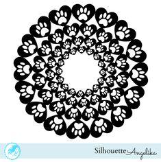 Heart Paw Doily Free Silhouette Studio Cut File |