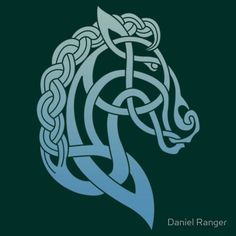 Celtic Horse_Teal & Aqua Blend T-Shirt by Daniel Ranger - Women Horse Tee Shirt - Fashionable Women Horse Tee Shirt - Celtic Quilt, Celtic Symbols, Celtic Art, Celtic Dragon, Celtic Knots, Mayan Symbols, Egyptian Symbols, Ancient Symbols, Vikings