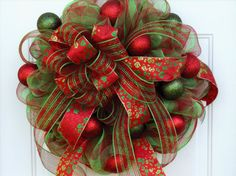 Hey, I found this really awesome Etsy listing at http://www.etsy.com/listing/162307346/christmas-wreath-holiday-wreath-deco