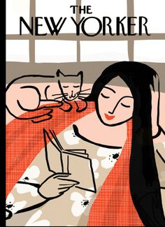 """New Yorker cover """"books"""" theme"""