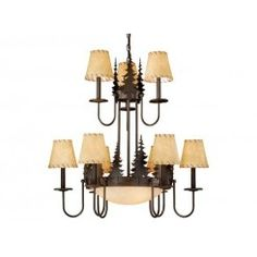 Buy the Vaxcel Lighting Burnished Bronze Direct. Shop for the Vaxcel Lighting Burnished Bronze Bryce 12 Light Wide Chandelier with Tree Accents and save. Bronze Chandelier, Rustic Chandelier, Chandelier Shades, Chandelier Pendant Lights, Chandeliers, Rustic Lamps, Antler Chandelier, Cabin Lighting, Lighting Ideas