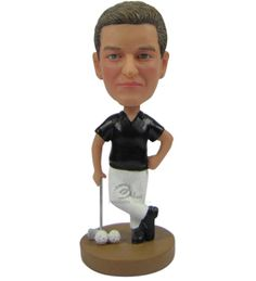 Male Golfer Posing with Club and Balls by BobbleheadsEtsyShop, $63.00