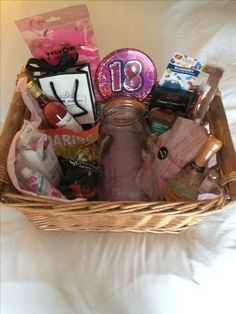 Birthday basket, filled with favourite things