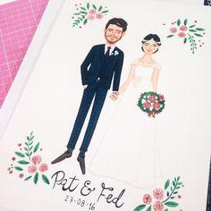 wedding illustration - Ilustração de casamento por @helloluizaillustrations