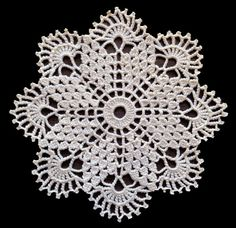 Small cream crochet doily by fancypansycrafts on Etsy