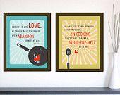 Kitchen Print Set of 2 - Julia Child