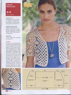 Crochetemoda: Boleros  Diagrams included                                                                                                                                                      Mais