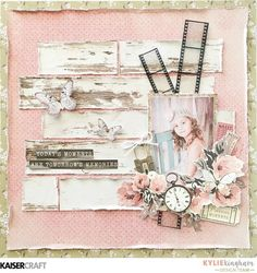 'Precious Moments' Layout by Kylie Kingham Design Team member for Kaisercraft Official Blog. Featuring PS439 Acetate Photo Frames from their June 2017 'Keepsake' collection. Learn more at kaisercraft.com.au/blog ~ Wendy Schultz ~ Scrapbook Layouts.