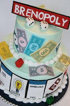 Monopoly cake from andeverythingsweet