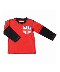 Loving this Peppermint Red Union Flag Pocket Thermal - Toddler & Boys on #zulily! #zulilyfinds