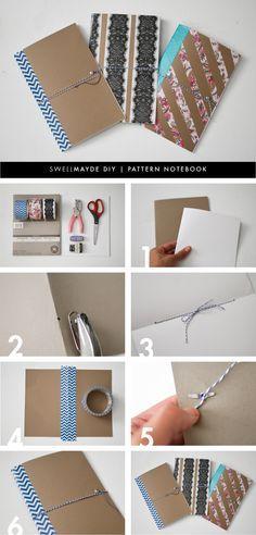 DIY: patterned notebook