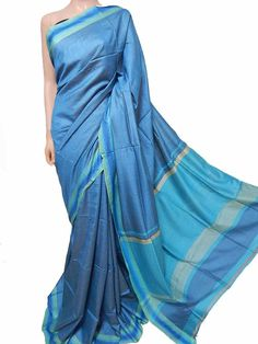 Buy Blue Handloom Dyed Silk Saree-data/Jharkhand/LWJSJCJ41750_Blue_Handloom_Dyed_Silk_Saree.JPG