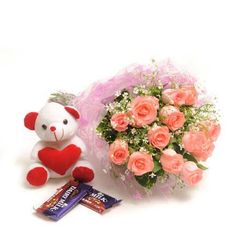 Send online #Chocolates with #Flowers anywhere in Delhi through FNP. http://bit.ly/1pdN33y