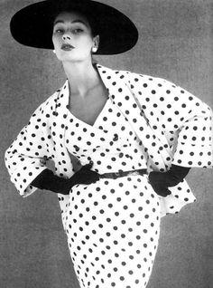 Anne Gunning in Polka Dots 1950s