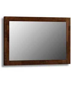 Julian Bowen Minuet Hardwood Wall Mirror - Dark Brown.